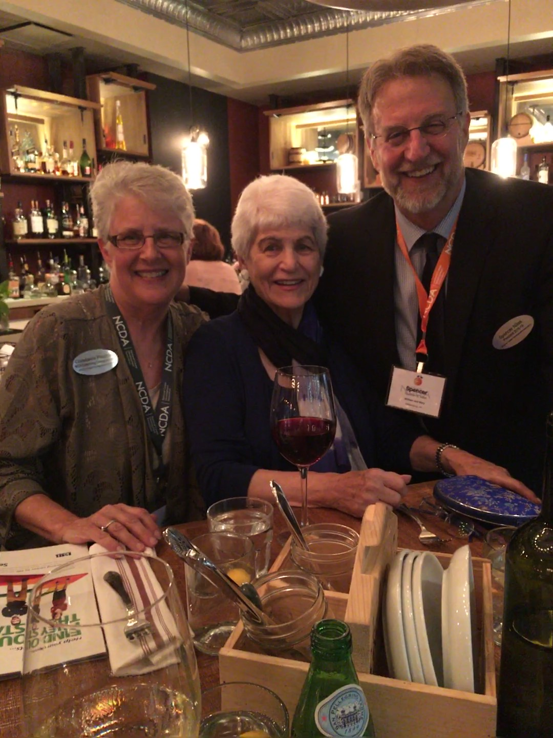Dinner with Nancy Schlossberg