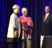 Constance J. Pritchard receiving NCDA Fellow Award